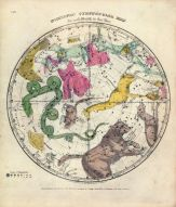Circumpolar Map Northern, Atlas Designed to Illustrate the Geography of the Heavens 1835